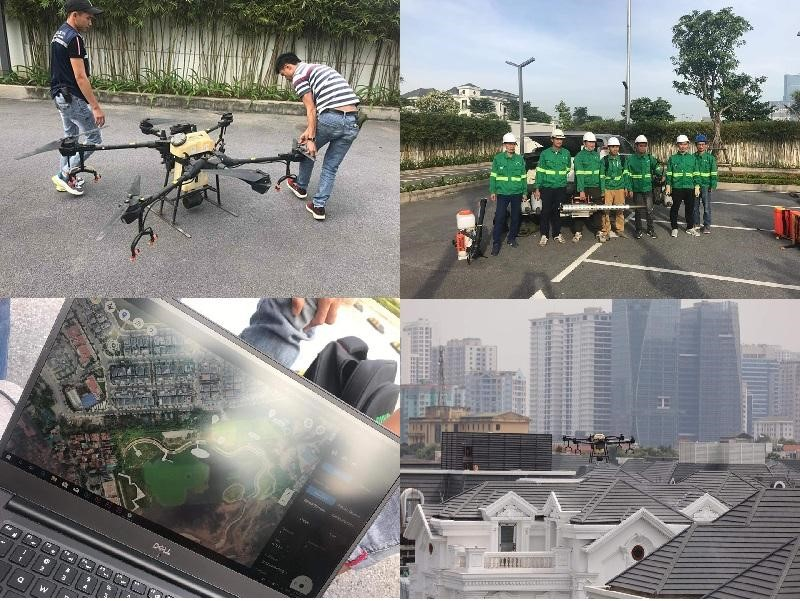 Đơn vị vệ sinh môi trường, phun thuốc diệt muỗi, kiến đang làm việc tại Vinhomes Greenbay Mễ Trì (hình minh hoạ)