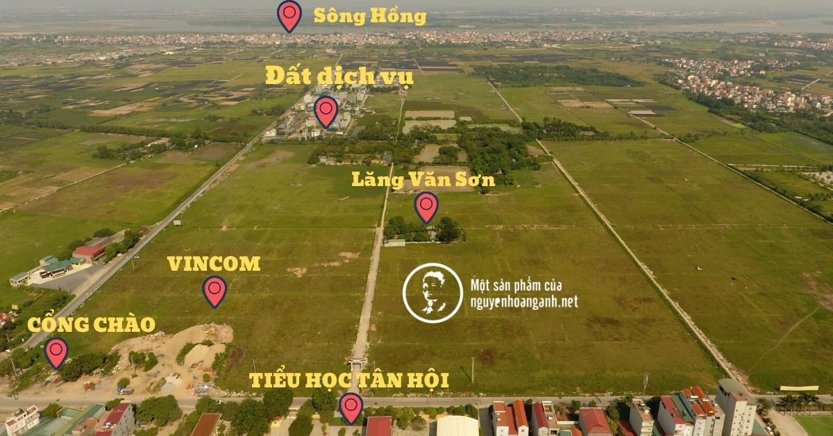 Mặt bằng dự án Vinhomes Đan Phượng (Nguồn; Nguyễn Hoàng Anh)