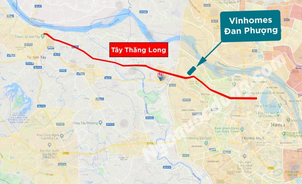 Toàn tuyến đường Tây Thăng Long (nguồn: Ngô Quốc Dũng)