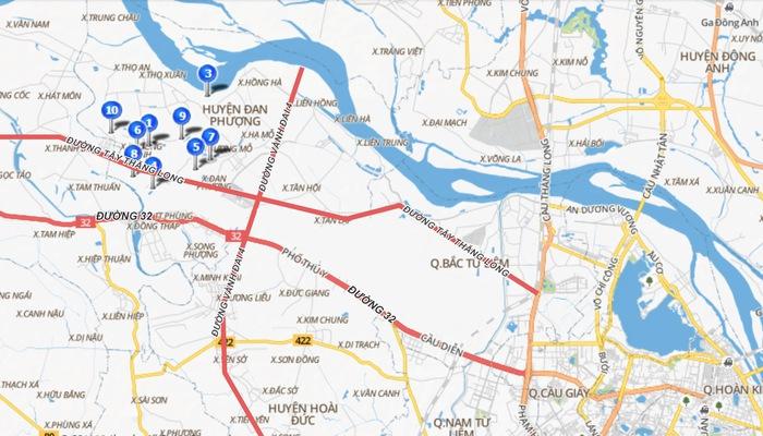 Bản đồ quy hoạch huyện Đan Phượng, Hà Nội lên quận trong tương lai