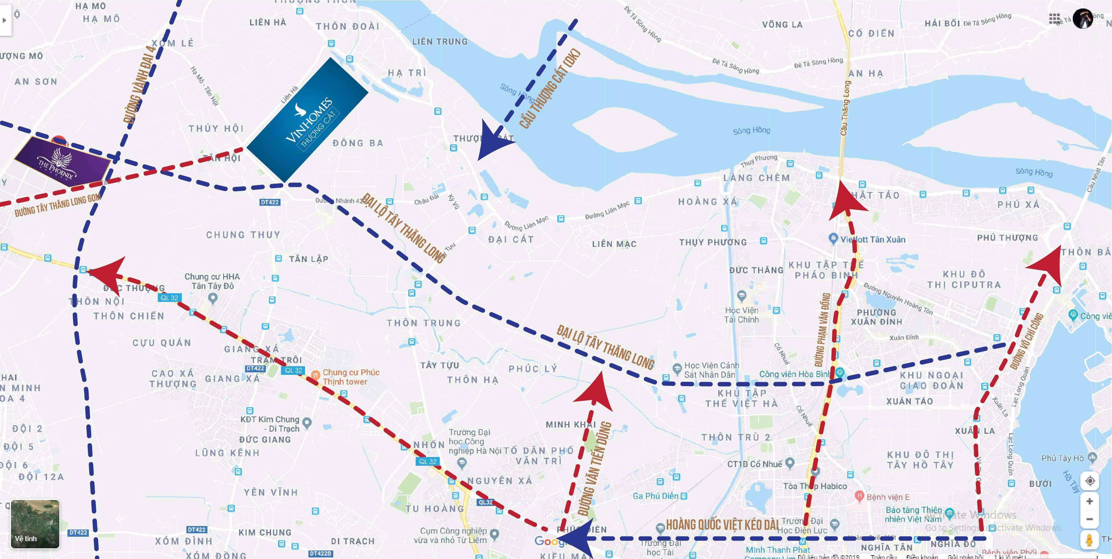 Quy hoạch hạ tầng giao thông huyện Đan Phượng