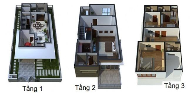 Mẫu thiết kế nhà Liền Kề 3 tầng hiện đại không thể bỏ qua